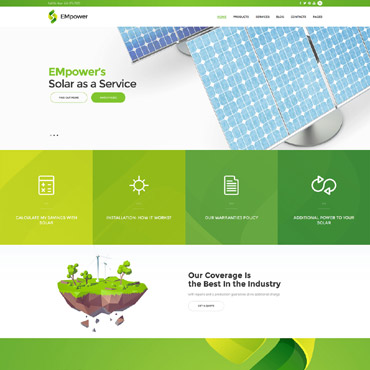 Alternative energy WordPress template