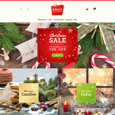 Christmas, e-commerce Magento template