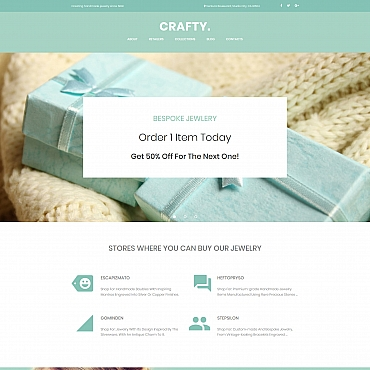 Online jewelry store Moto CMS 3 template