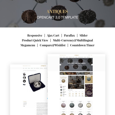 Antique dealers, e-commerce OpenCart template