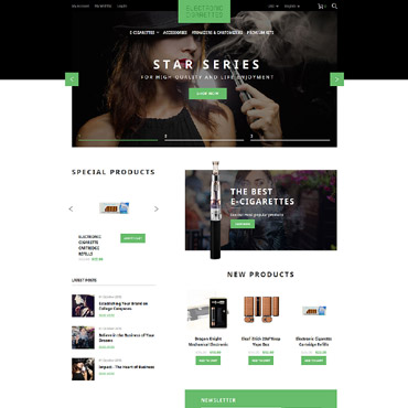 Tobacco industry, e-commerce Magento template