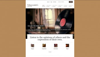 HTML-template website tobacco
