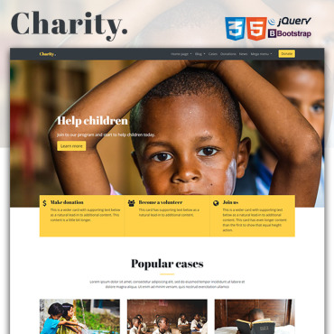 Charity organization HTML template
