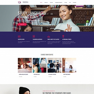 Educational Moto CMS 3 template