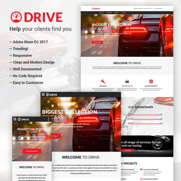 Automotive Adobe Muse template