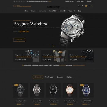 E-commerce, Beauty OpenCart template