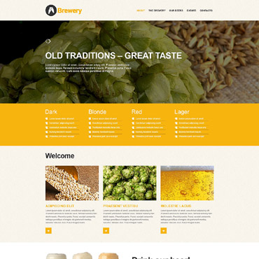 Beer Adobe Muse template