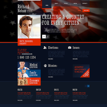 Political HTML template