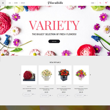 Flower delivery service, e-commerce VirtueMart template