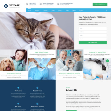 Animals HTML template