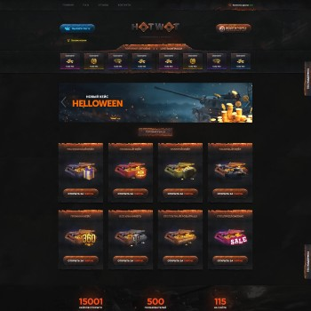Gaming, Online casino HTML template
