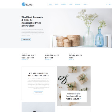 Gift shop HTML template