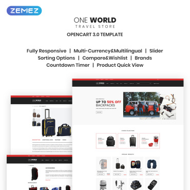 Travelling, e-commerce OpenCart template