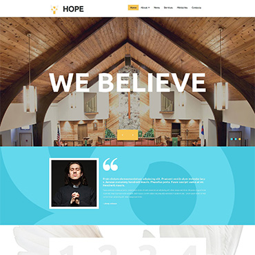 Religious topic Moto CMS 3 template