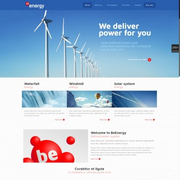 Alternative energy, Business WordPress template