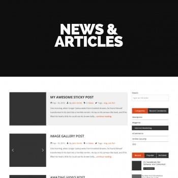 PSD template for blog, portal, news site
