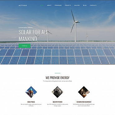 Alternative energy Moto CMS 3 template