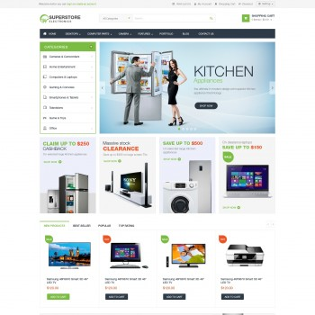 Business, e-commerce OpenCart template