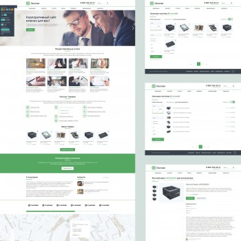 Business, Communications company HTML template