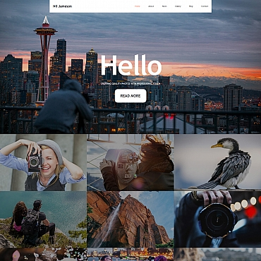 Photography website MotoCMS Photo Gallery template
