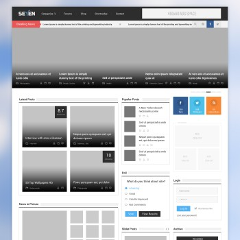 PSD website template with video material