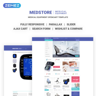 Medical, e-commerce OpenCart template