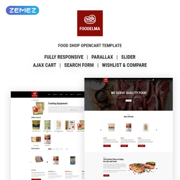 Catering, e-commerce OpenCart template