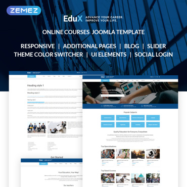 Scientific Joomla template