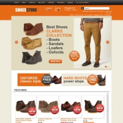 Fashion store OpenCart template