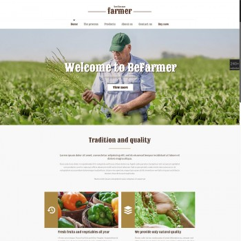 E-commerce, Agriculture WordPress template