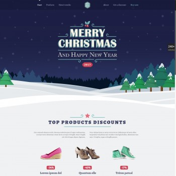 E-commerce, Gift shop WordPress template