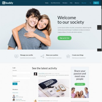 Dating website, Portal WordPress template