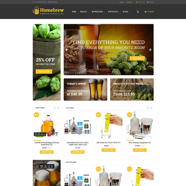 E-commerce, Beer OpenCart template