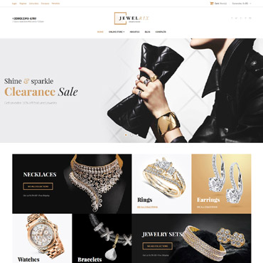 E-commerce, Online jewelry store VirtueMart template