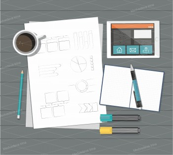 Business, Web design Vector