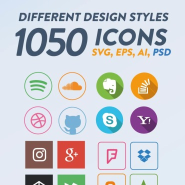 Photography website Icons set