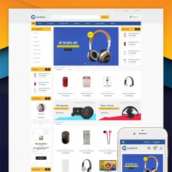 The area of Internet, e-commerce OpenCart template