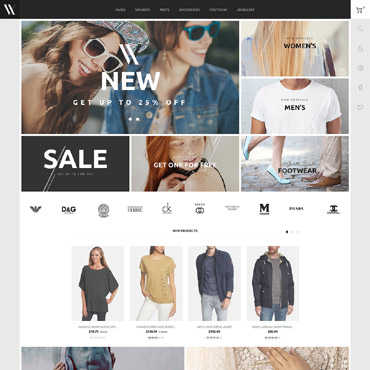 Fashion store, e-commerce PrestaShop template