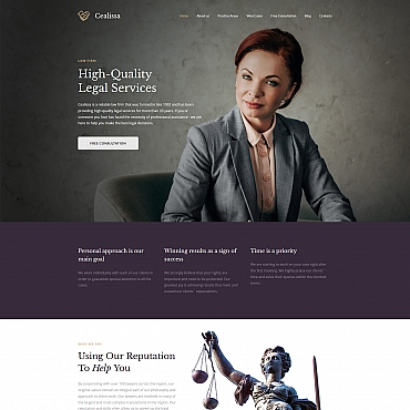 Legal Moto CMS 3 template