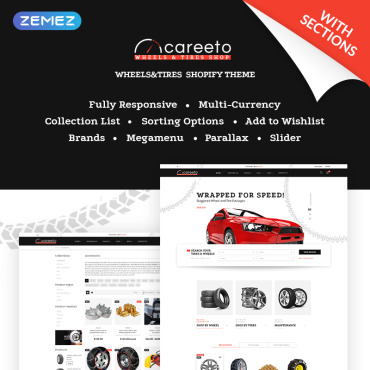 Automotive, e-commerce Shopify template