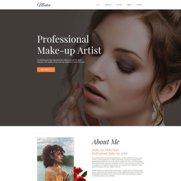 Wedding website Adobe Muse template