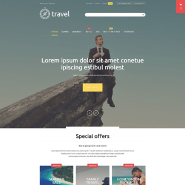 Travelling, e-commerce Magento template