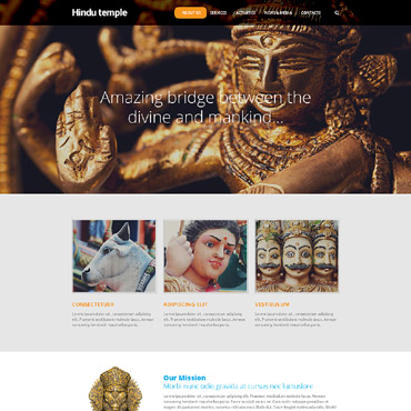 Religious topic HTML template