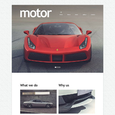 Automotive Drupal template