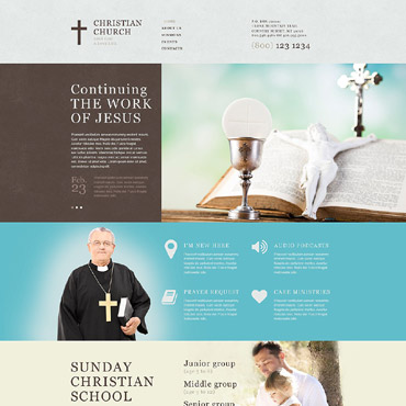Religious topic Adobe Muse template