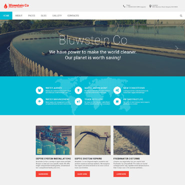 Alternative energy Joomla template
