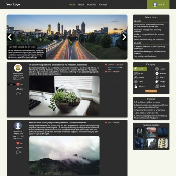 PSD Site layout on the subject of the blog, Bootstrap