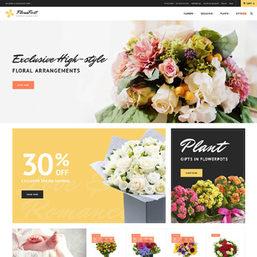 Flower delivery service, e-commerce Magento template