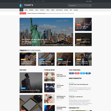 Media website Joomla template