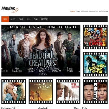 Movie, Entertainment websites WordPress template